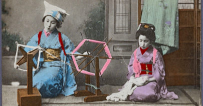 Maiko at the spinning wheel
