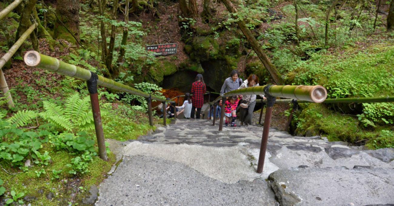 Fugaku Wind Cave in Aokigahara