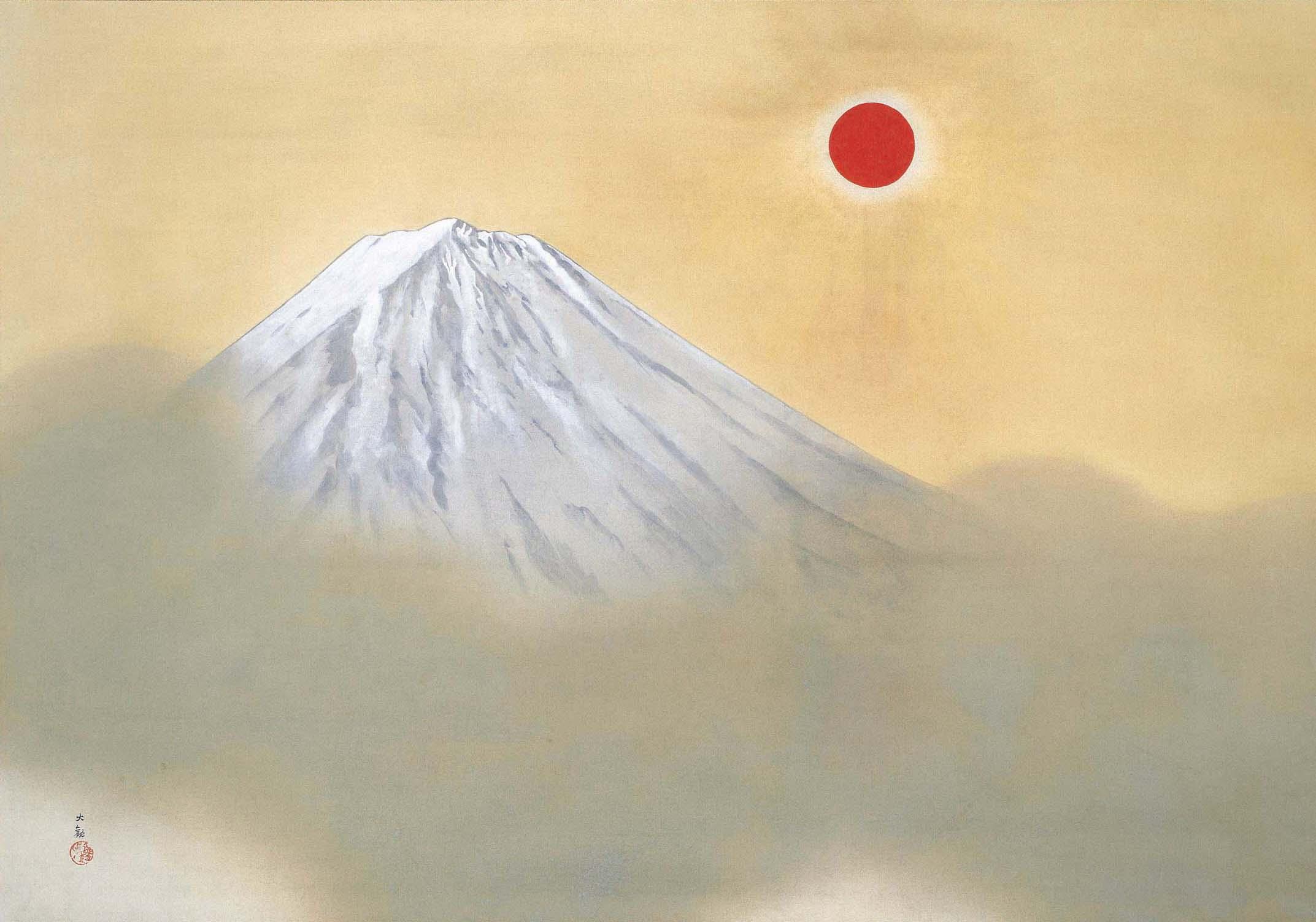 'Mt. Fuji' by Yokoyama Taikan (1868-1958) | ADACHI MUSEUM OF ART