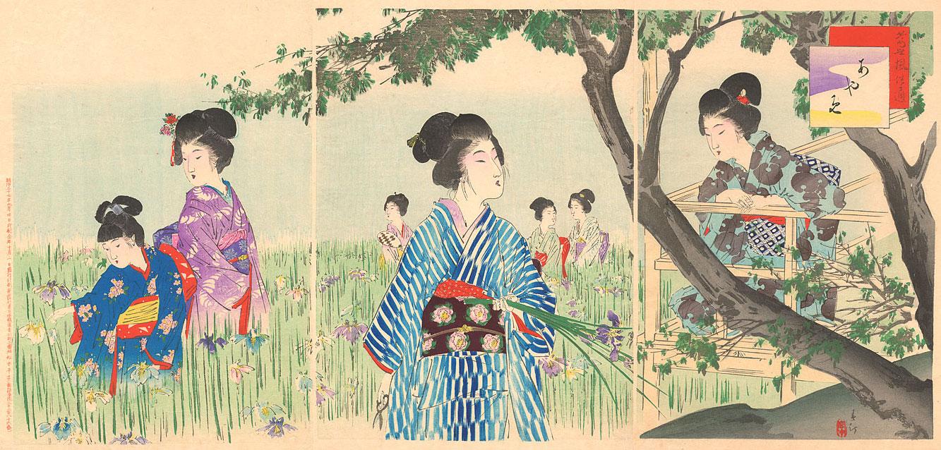 Iris Garden, 1904. Shuntei Miyagawa (1873-1914)