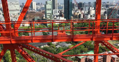 Tokyo Tower climbing stairs