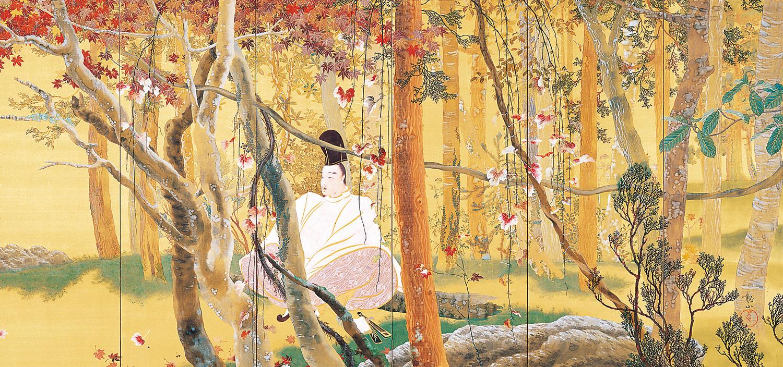 """Mount Ogura"" (1909) - Shimomura Kanzan 下村 観山 (1873-1930) | Yokohama Museum of Art"