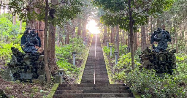 Tengu on the way to a Zen Temple