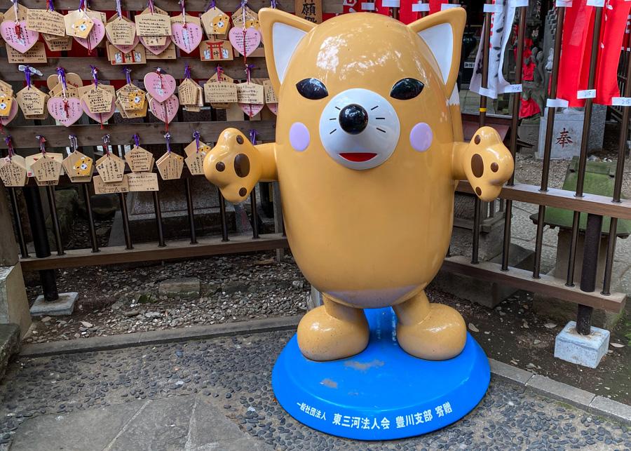 """Inarin, mascot of """"Toyokawa Inari sushi"""""""